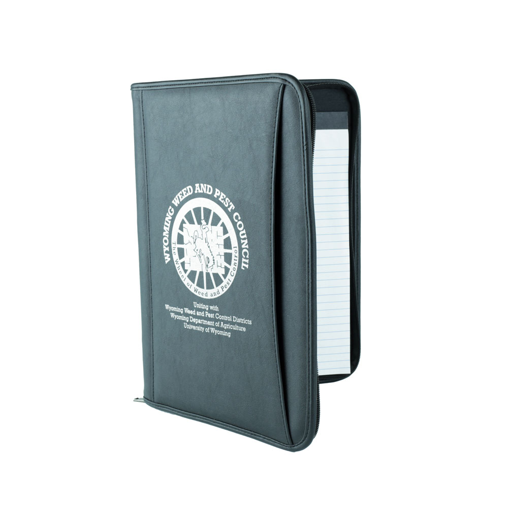 Wyoming Weed & Pest Council Zippered Binder
