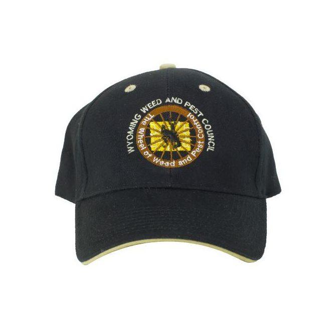WWPC Baseball Cap, Black/Tan Trim