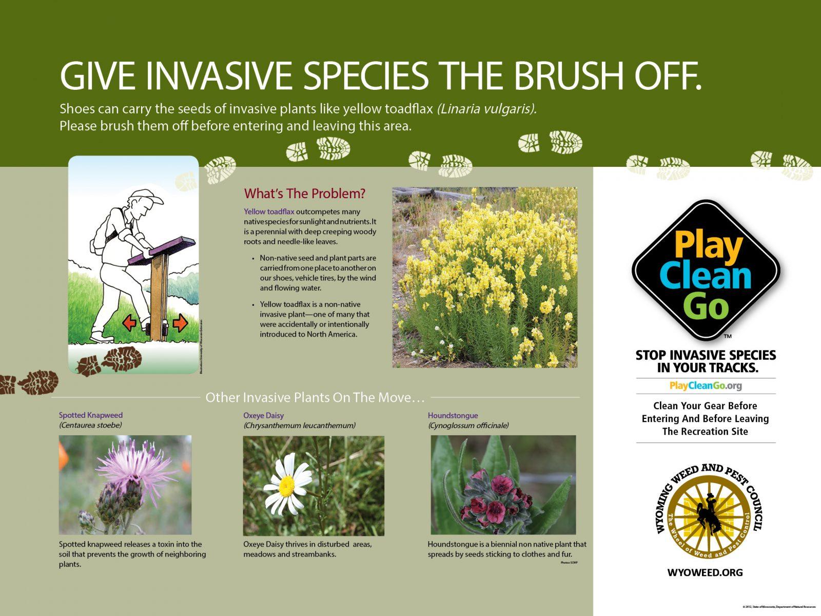 PlayCleanGo Boot Brush Trail Poster: Hiker